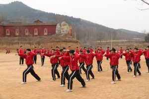Students-are-training-on-one-of-the-playgrounds-of-The-Ta-Gou-Kung-Fu-School